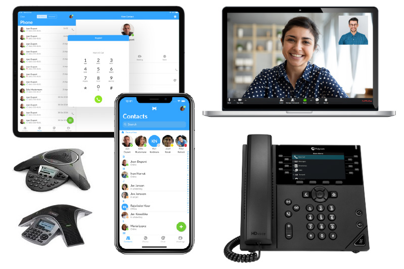 Phones and softphone apps for POPP's Cloud Voice VoIP Phone System